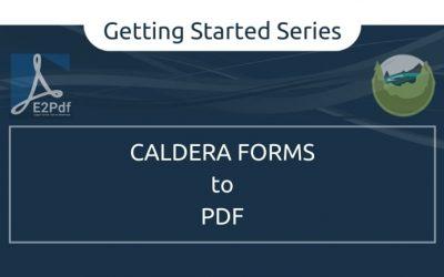 Send Caldera Forms to a PDF Certificate