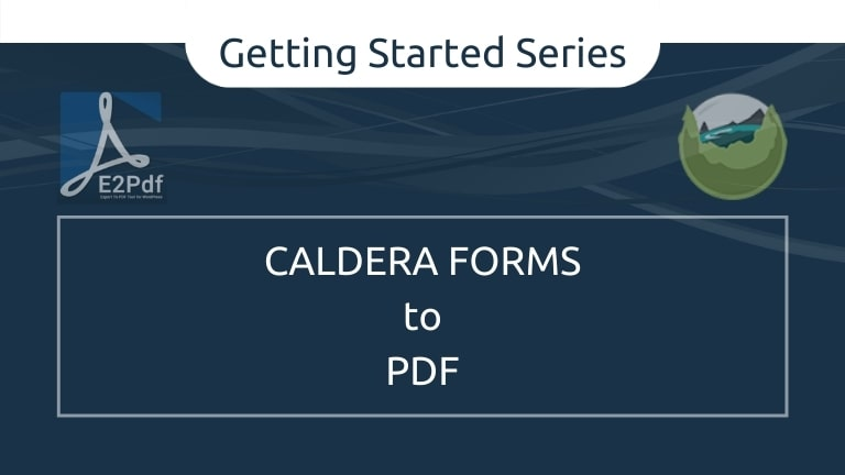 Send Caldera Forms to a PDF Certificate