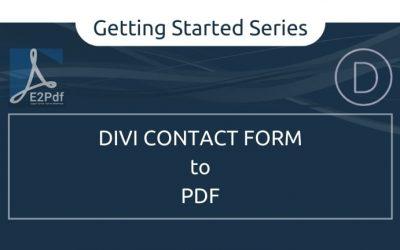 Send Divi Contact Form to a PDF Certificate