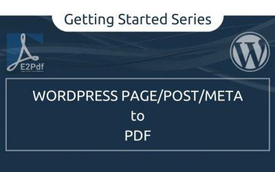 Send WordPress Page/Post Meta to a PDF Certificate