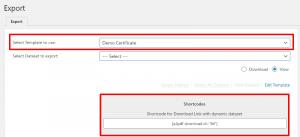 export-screen-shortcode-location